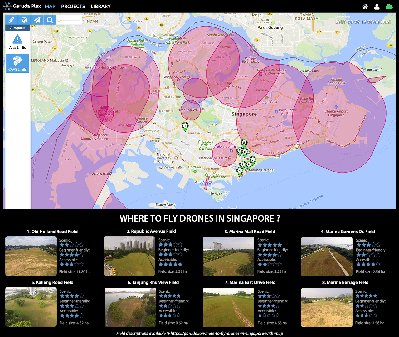 Where To Fly Drones In Singapore With Map Garuda Robotics - Drone maps google